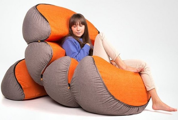 Mandarin – A Quirky Modular Set of Bean Bags