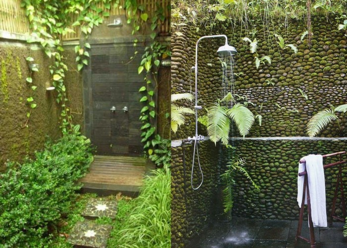 Splendid bathroom design for nature lovers - Plant decorating ideas tasteful nature ...