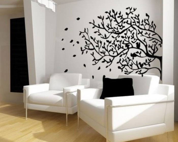 Decoration for your home interior with stunning tree for Bedroom wall mural designs
