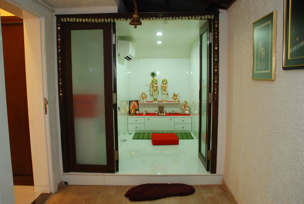 Designing the divine space prayer pooja room for Room door design for home
