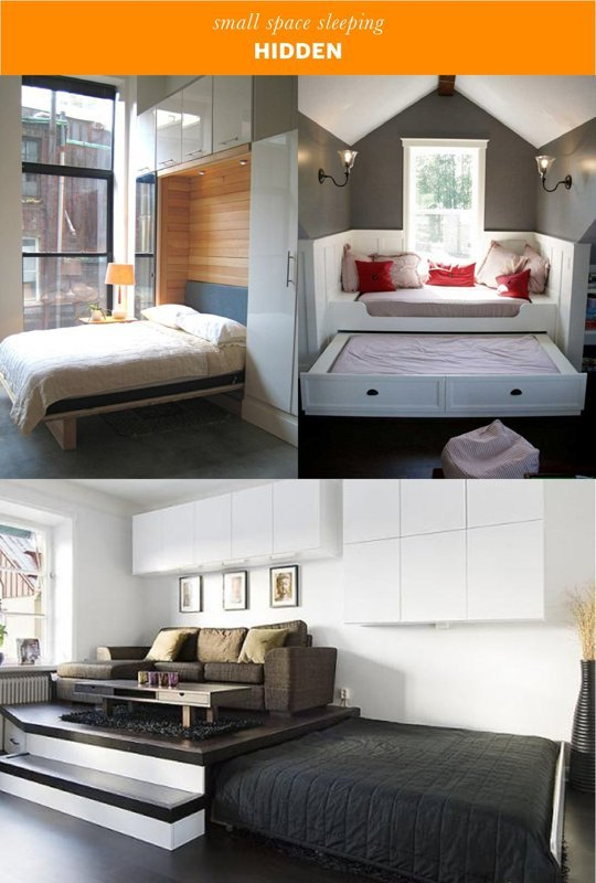 Small space sleeping solutions for Small space solutions bedroom