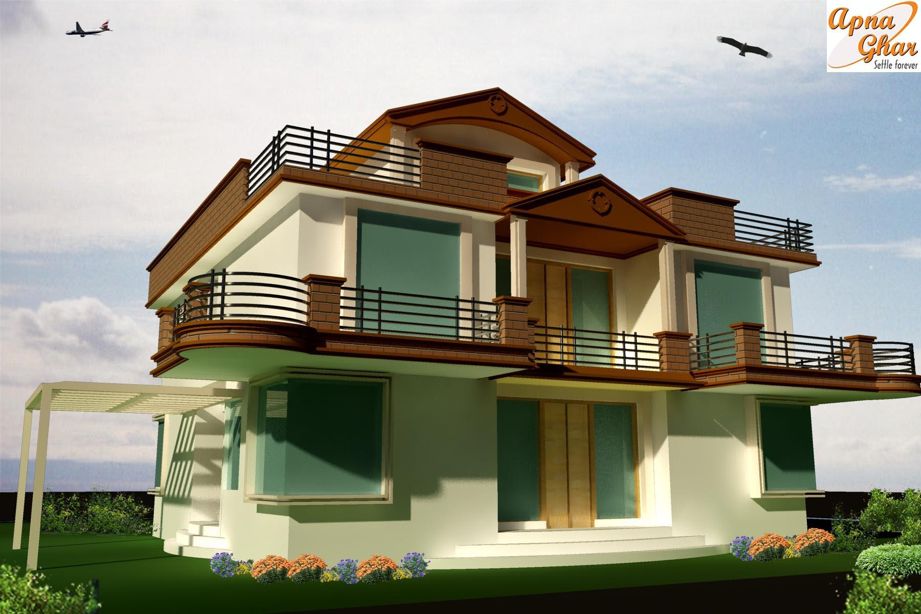 Beautiful home front elevation designs and ideas home Architectural house plans