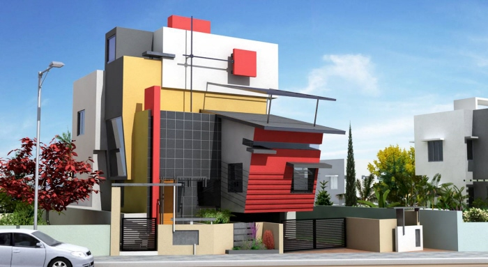 Front Elevation Please : Beautiful front elevation house design by ashwin architects