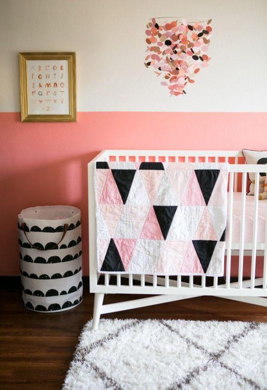 15 half painted wall decor ideas - Pink wall decor idea ...