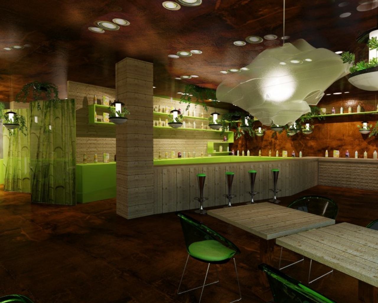 Contemporary restaurant bar interior design ideas for Restaurant interior designs ideas