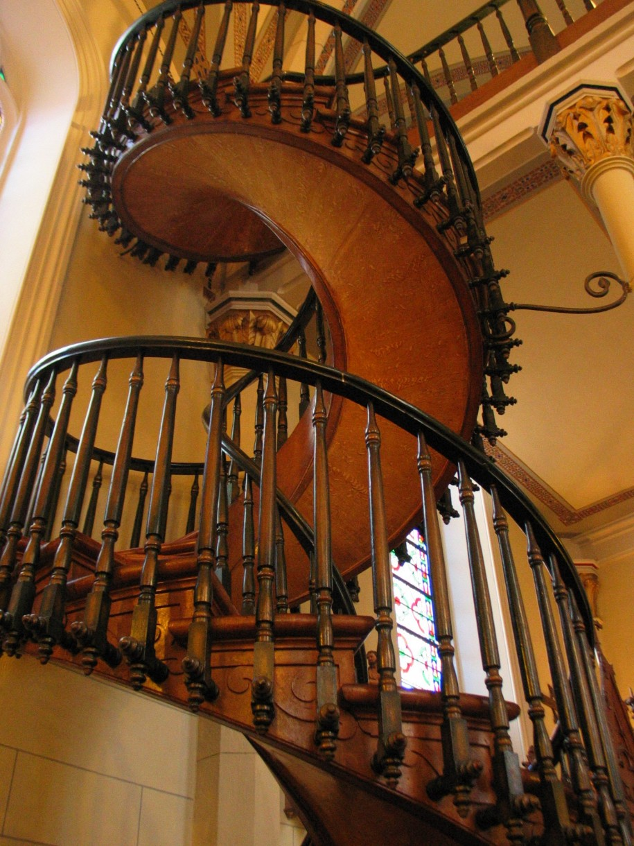 beautiful elegant spiral staircase