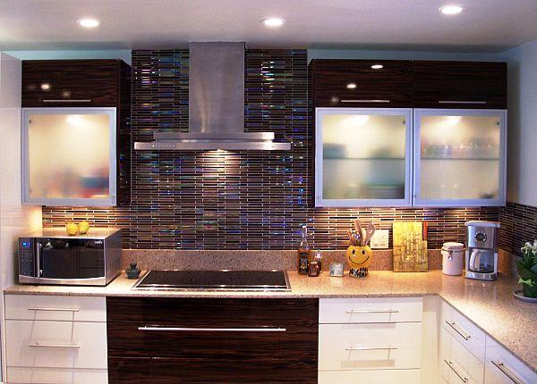 Colorful Tiles Kitchen Backsplash