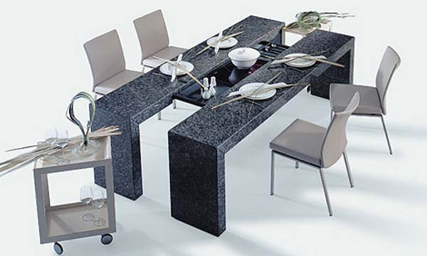 Modern dining table design ideas for Contemporary dining table decor