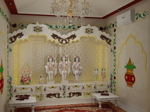 Prayer room design ideas for home for Home mandir designs marble
