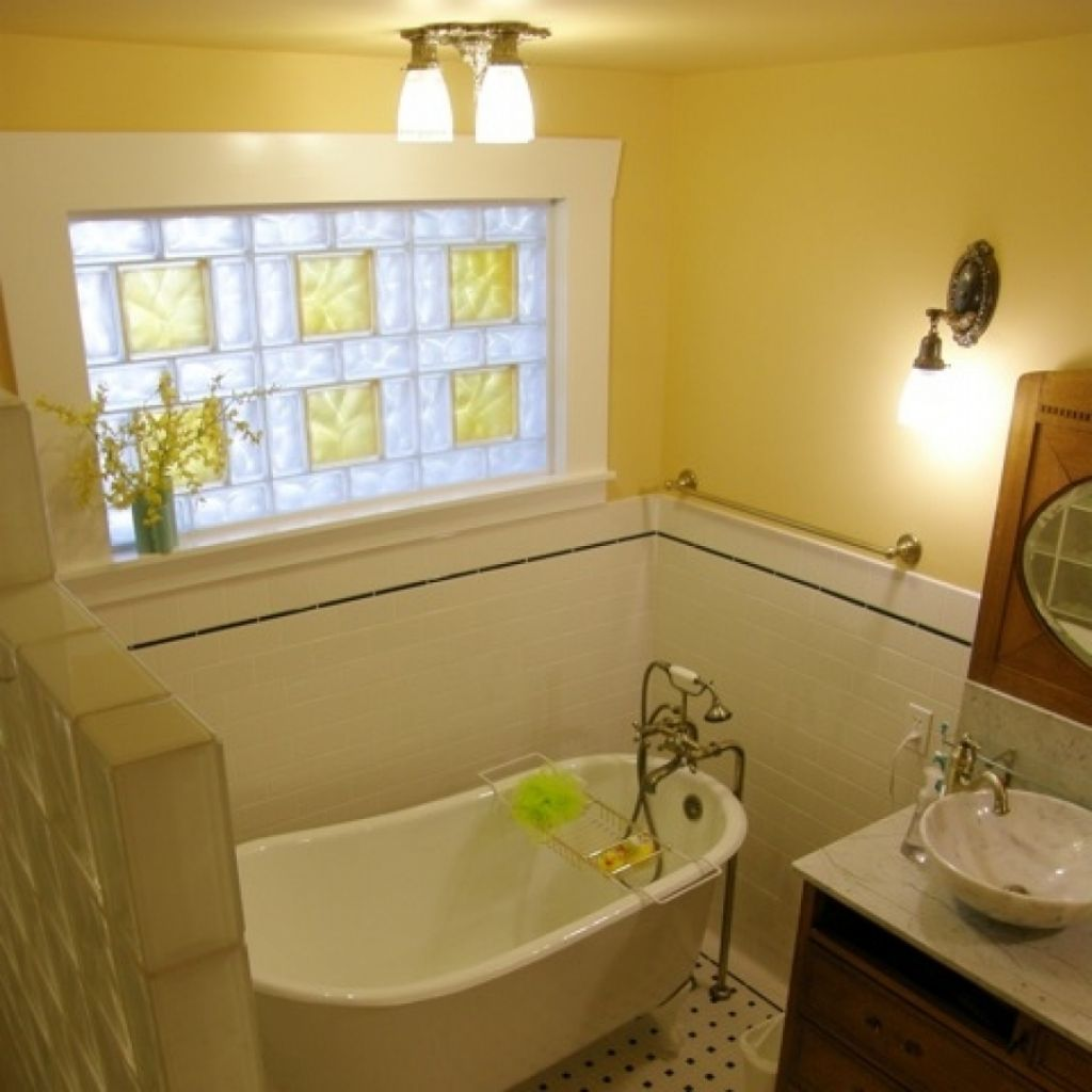 Simple Yet Nice Glass Block Bathroom Windows