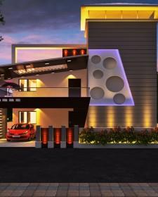 Modern 3D Indian Front Elevation Designs from Ghar360- 2015