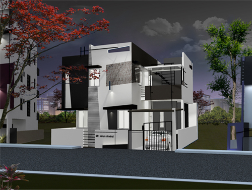 Beautiful Front Elevation House Design By Ashwin Architects