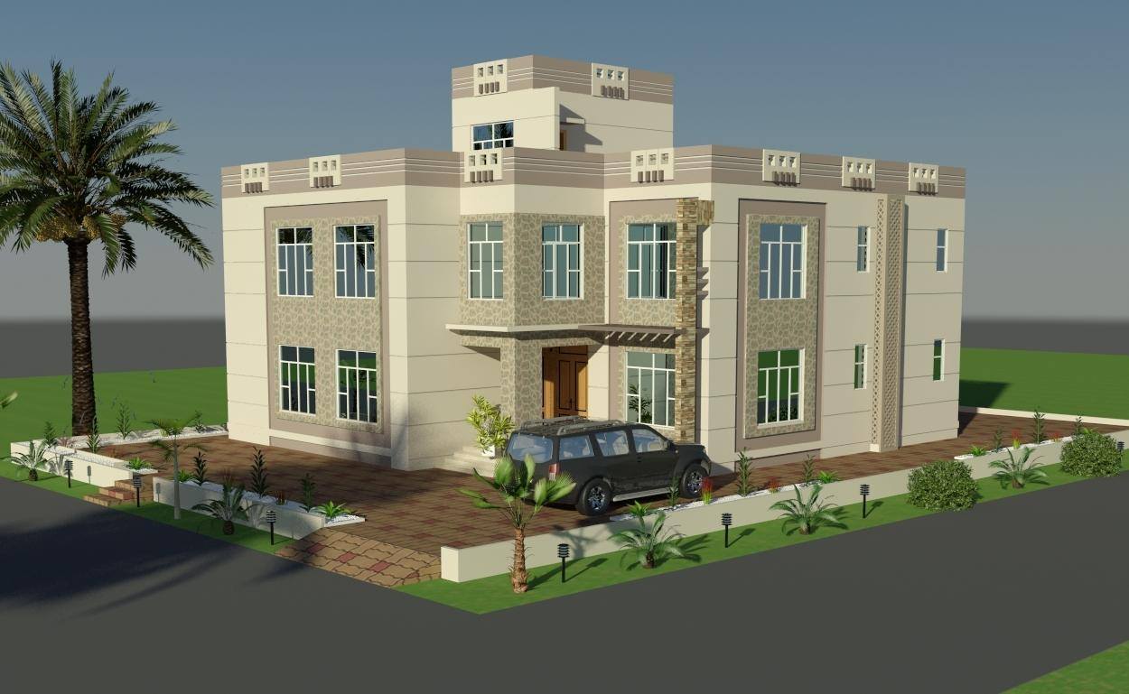 3d front elevation design by faisal hassan Home architecture blogs
