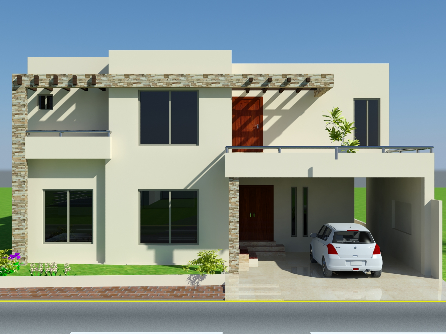 Home design front elevation home design jobs for Front elevations of duplex houses