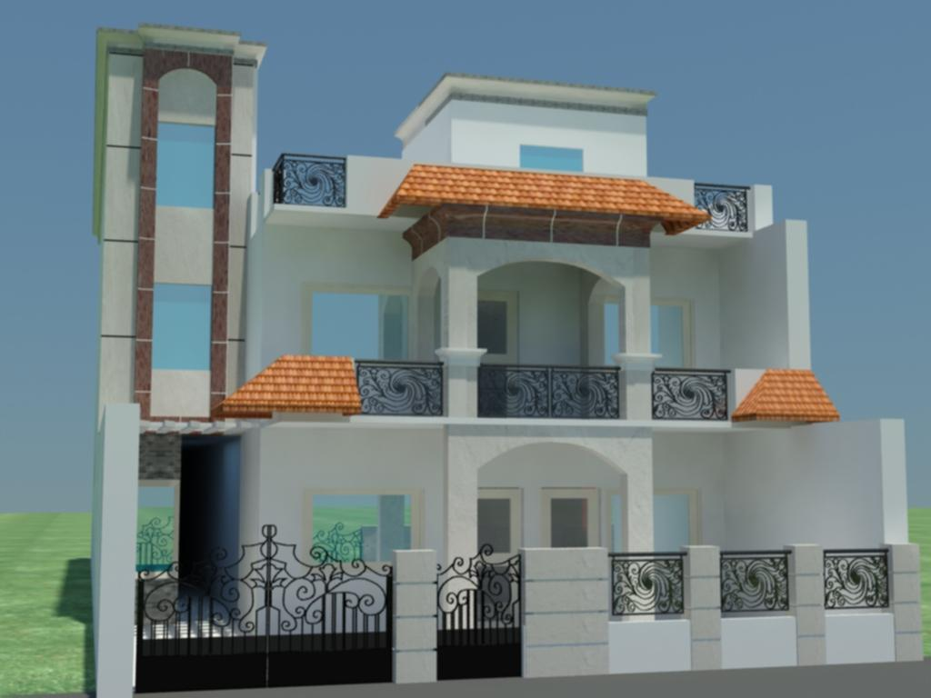 Beautiful home front elevation designs and ideas home for House elevation for three floors building