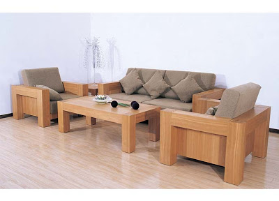 Charming Modern Wooden Sofa Set Designs