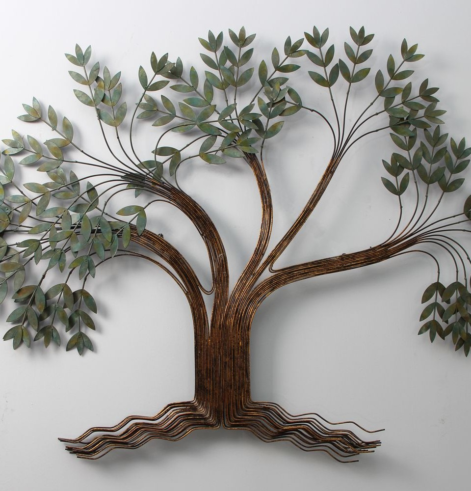 Decoration for your home interior with stunning tree for Bronze wall art