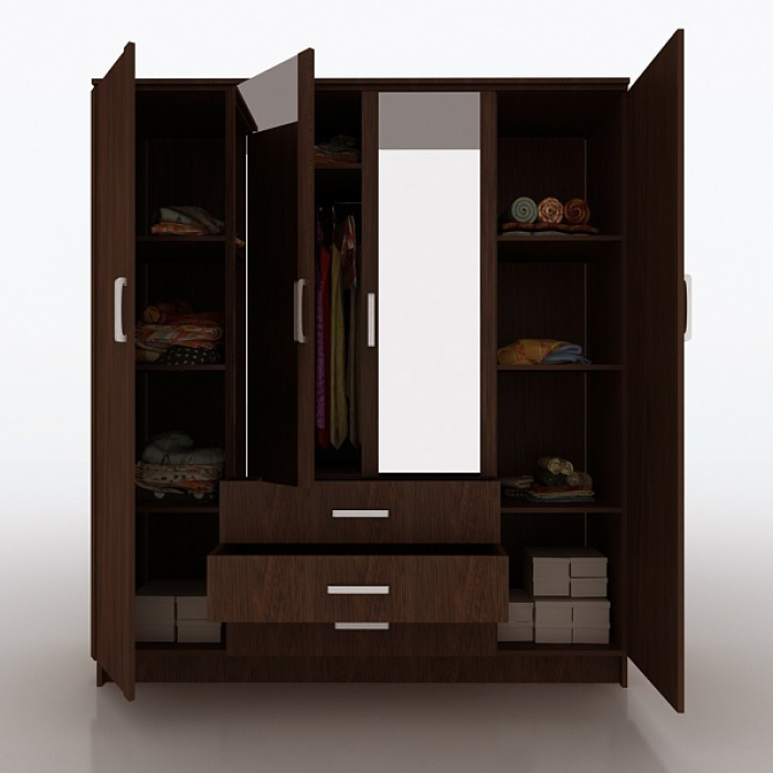4 door wardrobe - Designs For Wardrobes In Bedrooms