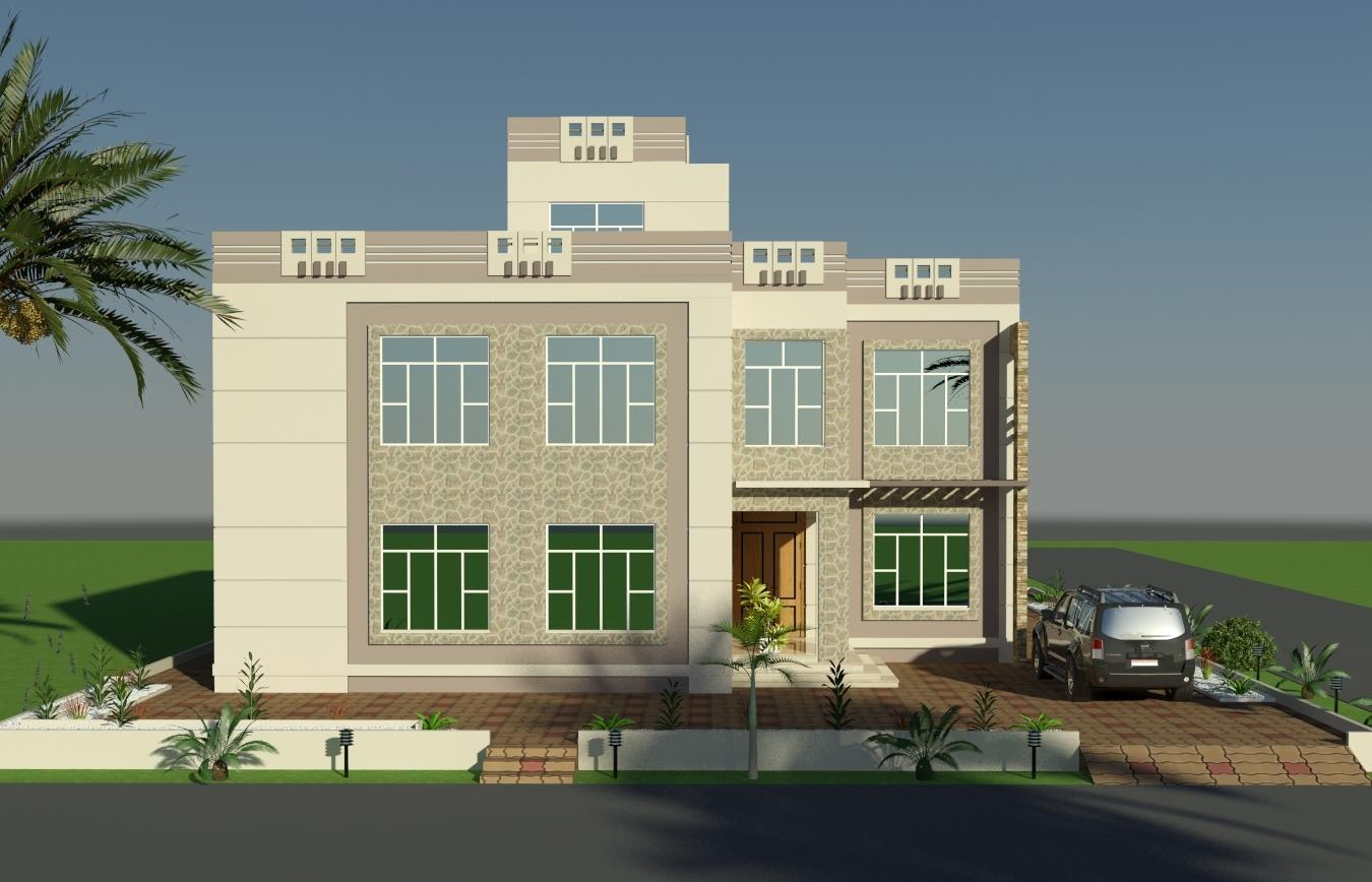 3d Front Elevation Of Houses In Dubai : D front elevation design by faisal hassan