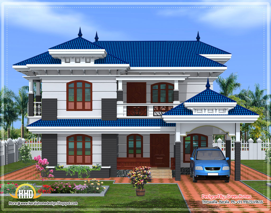 Elegant front elevation designs for Home front design indian style