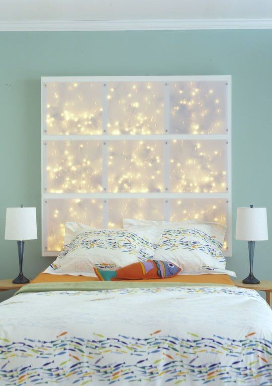 How to create a romantic canopy inspired headboard the decor - Diwali Inspired Decor Innovative Uses Of String Lights