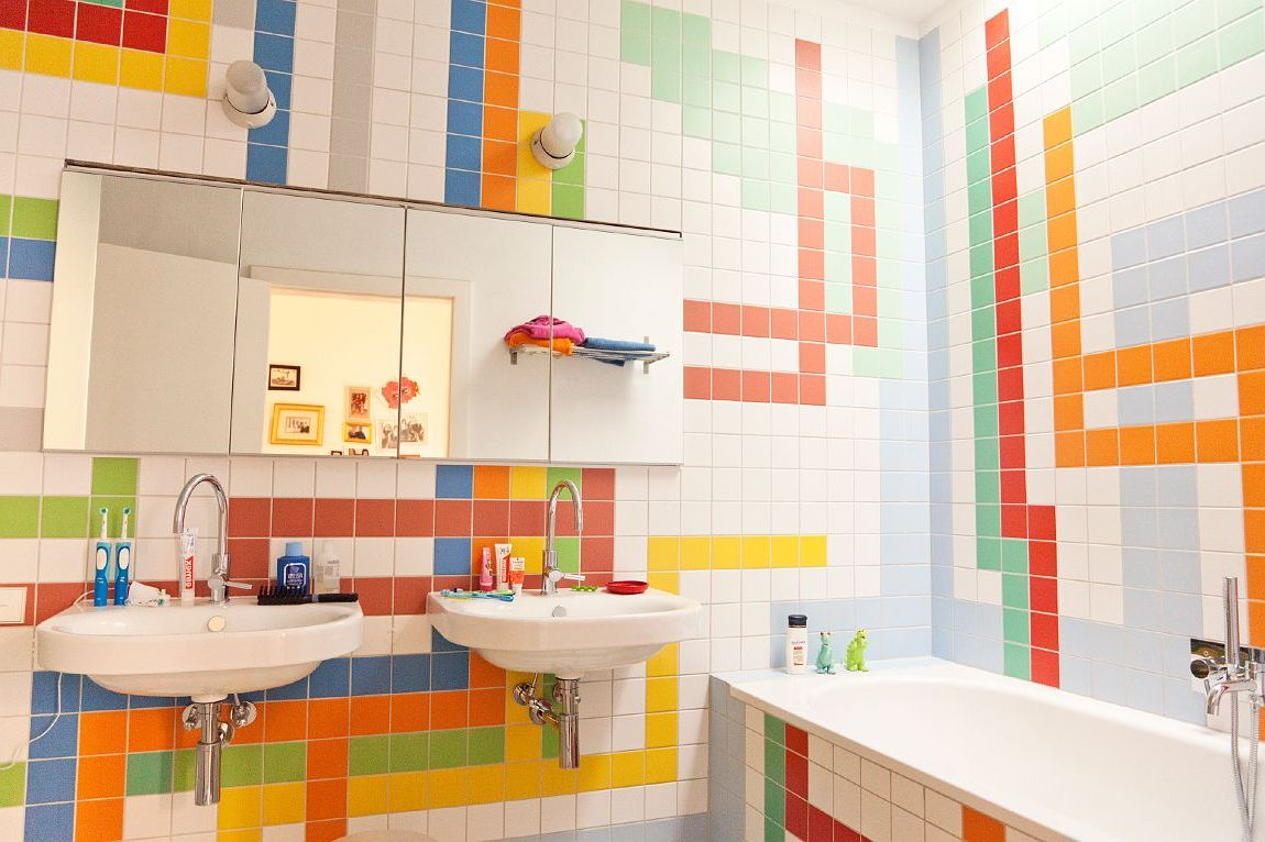 Best bathroom ceramic design ideas for Tiles for kids room