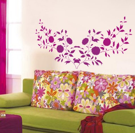 Imagine wall fashion stencils are available only through asian paints