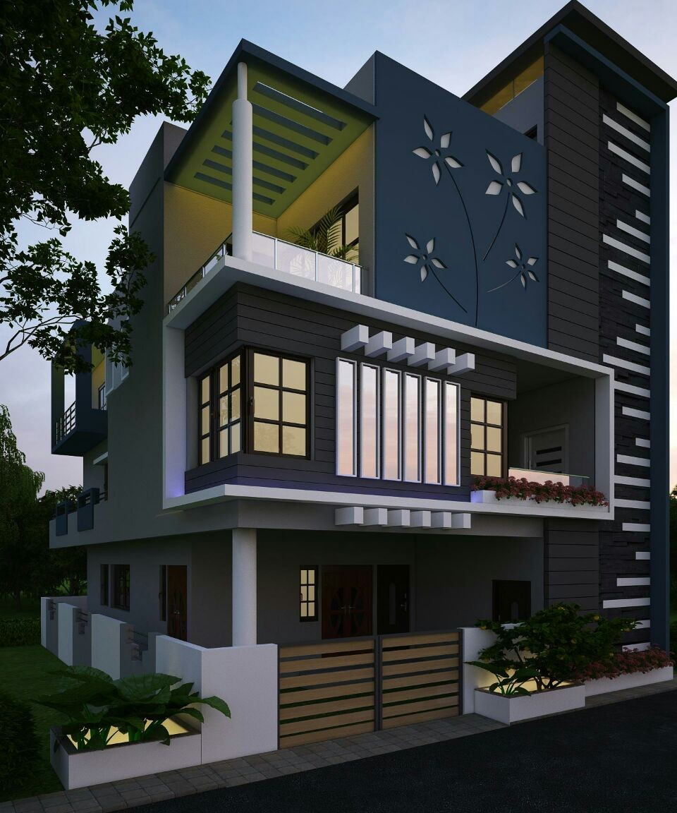 Exterior house elevation archives home for Home design exterior ideas in india