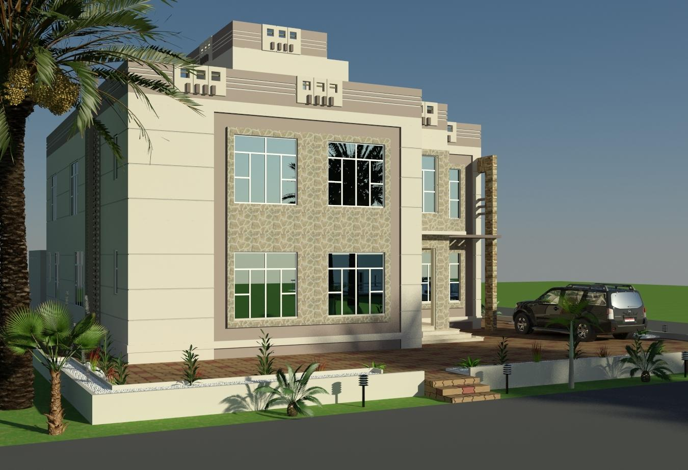 3d front elevation design by faisal hassan for Building front design