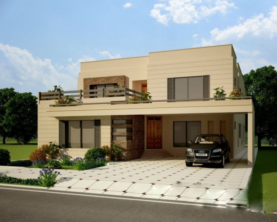 Elegant front elevation designs for Home design pictures