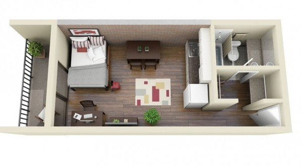 Hotel room layout 3d images galleries for 3d room layout