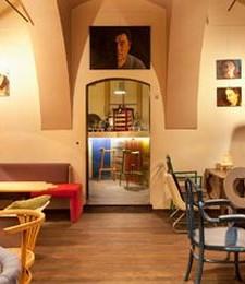 Stylish cafe interior design