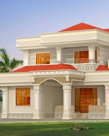 Beautiful looking Modern Style Villa @ Calicut, India