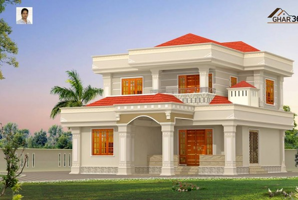 Beautiful looking modern style villa calicut india Villa designs india