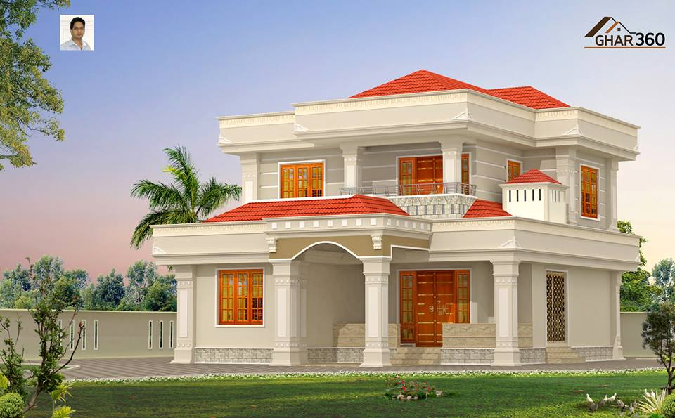 Beautiful looking modern style villa calicut india for Beautiful villas images
