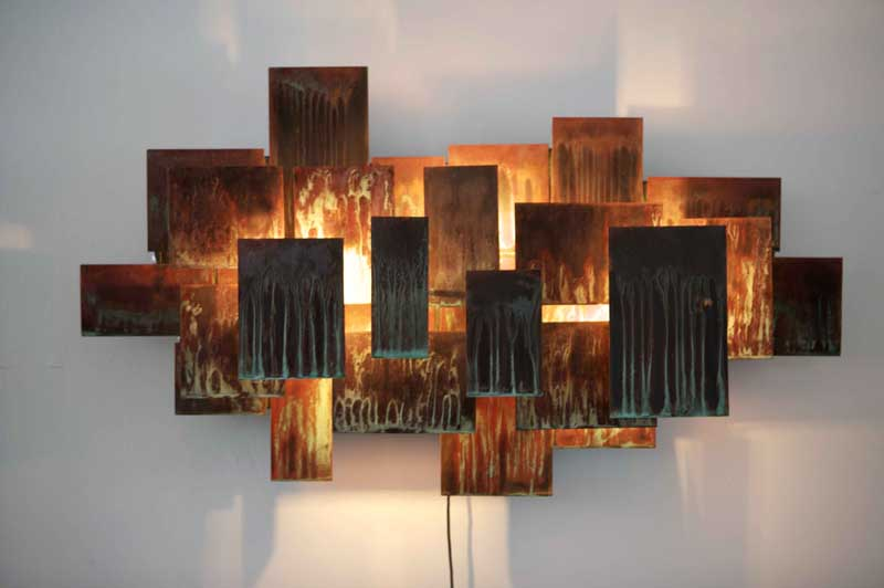Lights For Wall Decor : Innovative and creative metal artworks for your home