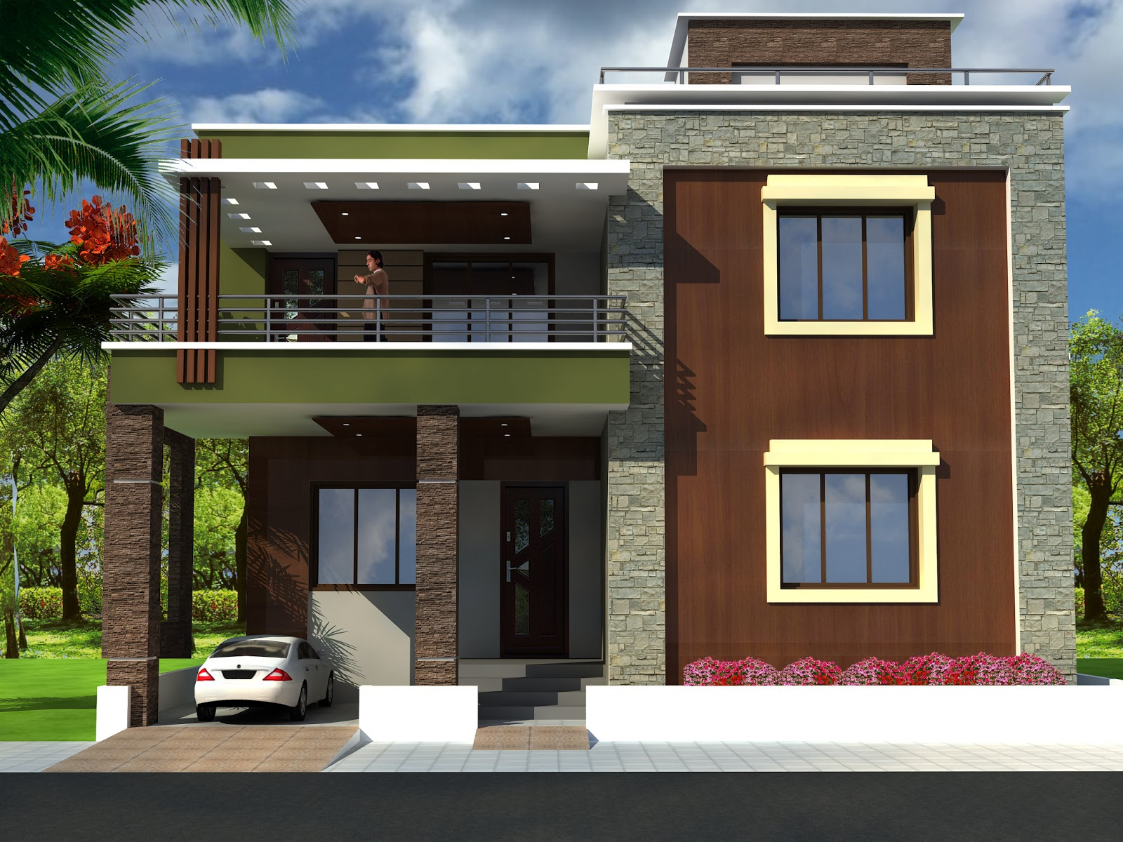 573?wu003d381 Exterior House Design Front Elevation On House Front Design Latest