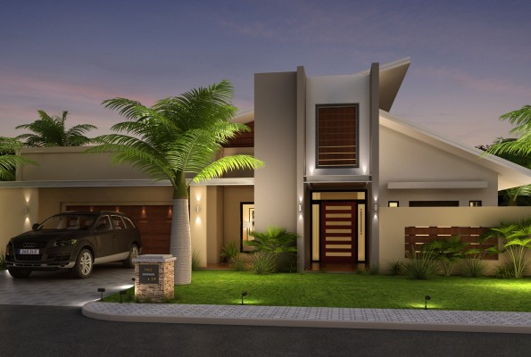 Beautiful home front elevation designs and ideas for Home designs 12m frontage