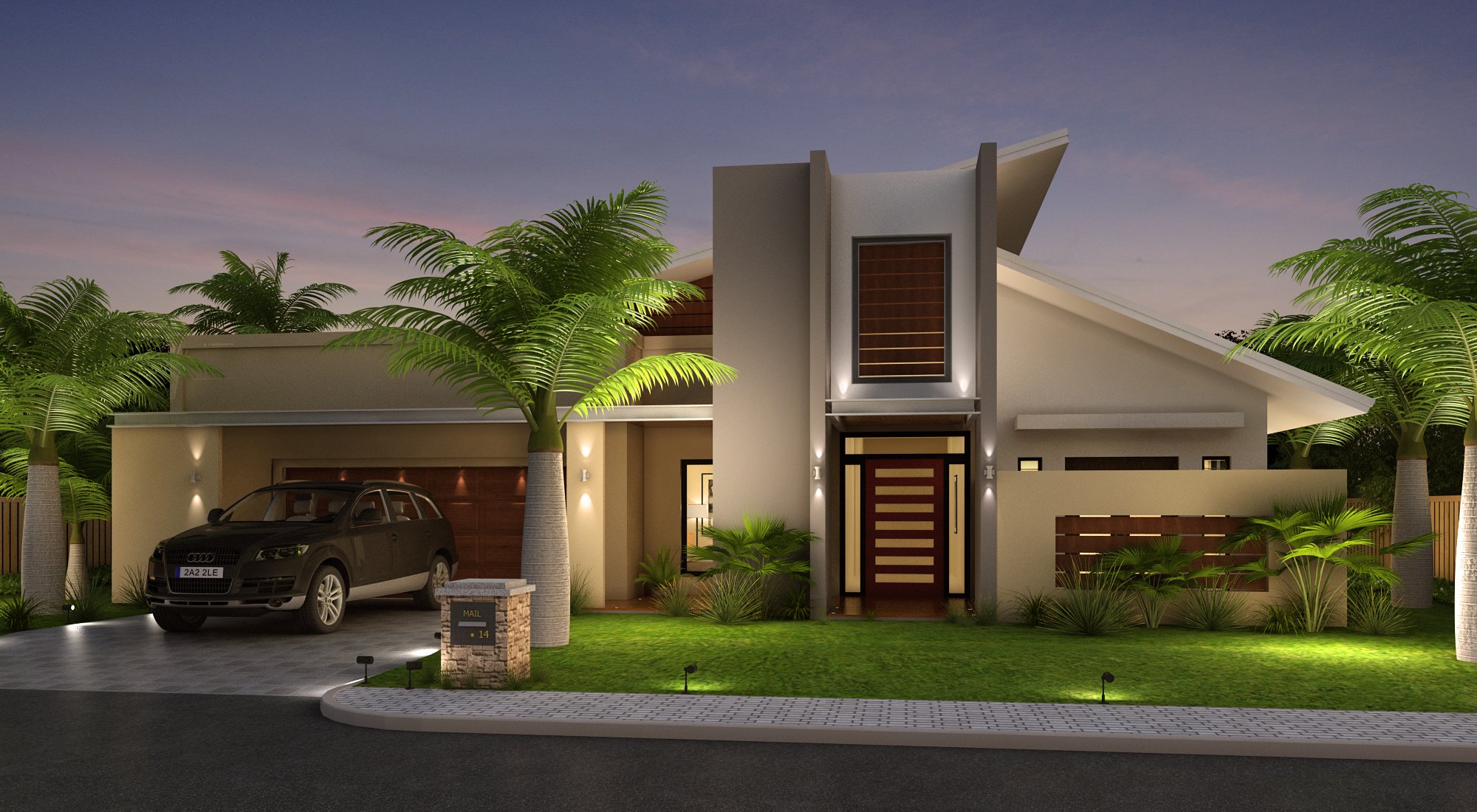 Beautiful home front elevation designs and ideas for Images of front view of beautiful modern houses