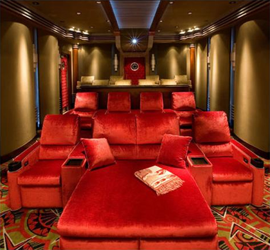 Home Theatre Design Ideas home theater designs from cedia 2014 finalists Secondly Let The Illumination Of The Room Create The Atmosphere Of Theater Dress Up The Room Walls False Ceiling With Dim Lights Spot Lights Or Recessed