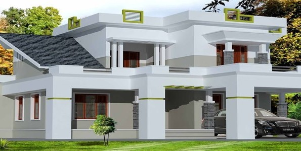 exterior house design front elevation - Homes Design In India
