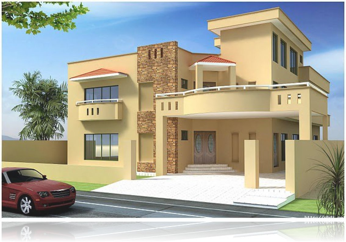 Best front elevation designs 2014 for Home designs 12m frontage