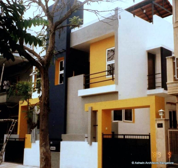 Front Design Of House In Bangalore Part - 26: Beautiful Front Elevation House Design By Ashwin Architects