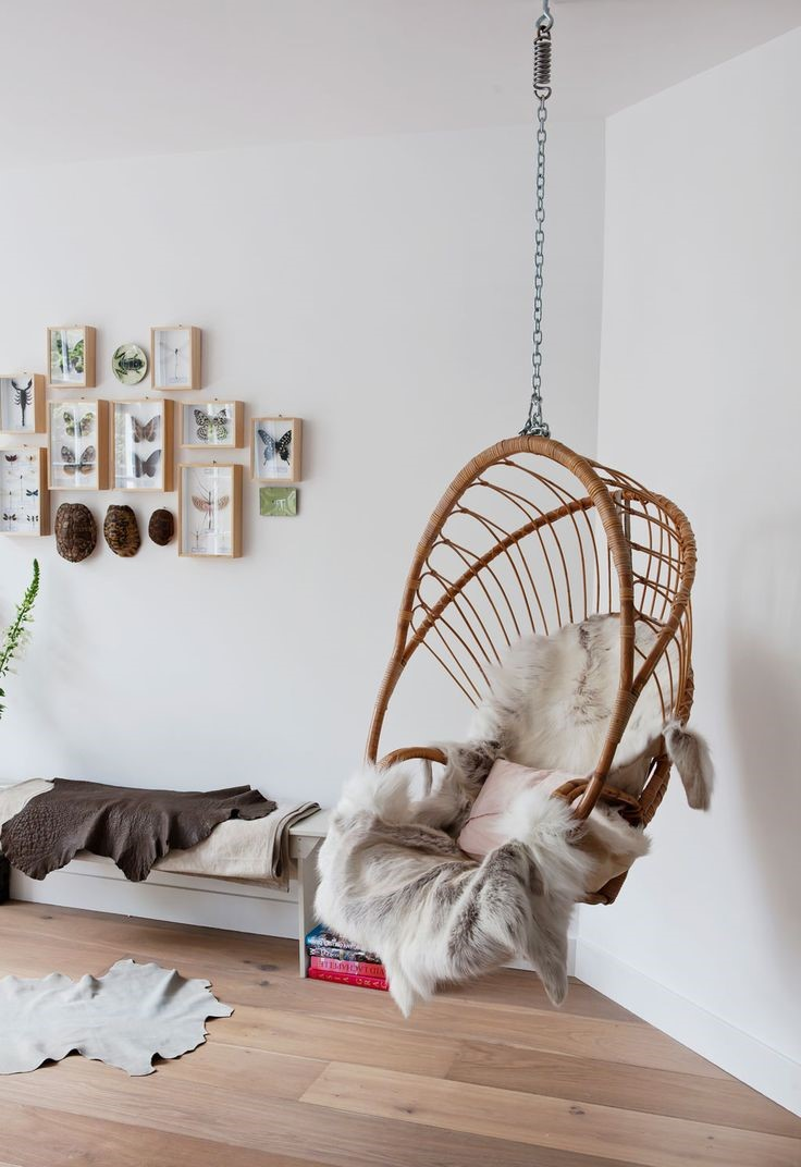 Beautiful indoor swing collections for your home for Indoor hanging chair for bedroom