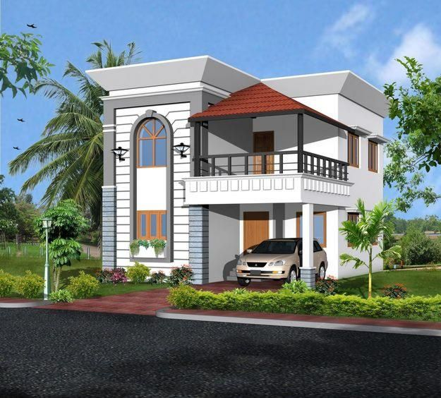 Best front elevation designs 2014 for Indian house elevation photo gallery