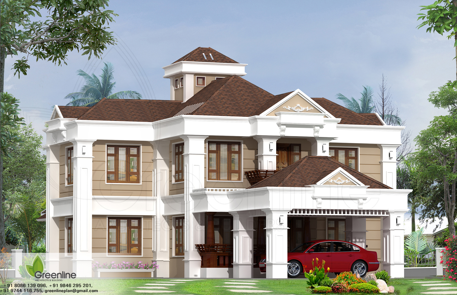 Beautiful kerala home designs for Beautiful kerala house plans