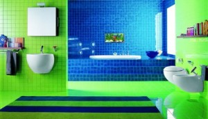 Amazing-Chic-And-Inspirational-Colorful-Bathroom-Ideas-In-Bright-Green-Blue-Bathroom-Design-