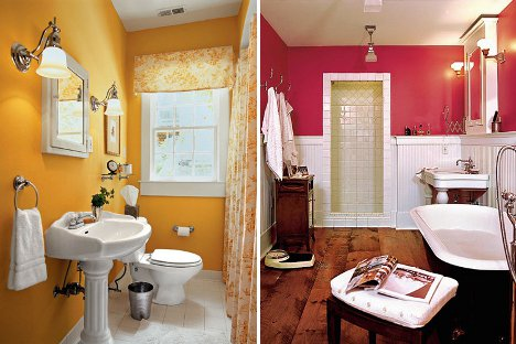 Amazing Chic And Inspirational Colorful Bathroom Ideas In Yellow And Pink Bathroom Color