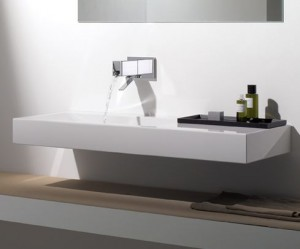 Amazing-Luxury-Bathroom-With-Modern-Bathroom-Sinks-Idea-In-Simple-Design-