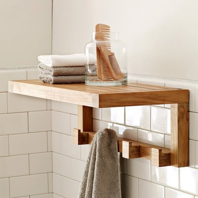 Elegant bathroom shelf design ideas for Bathroom shelves design